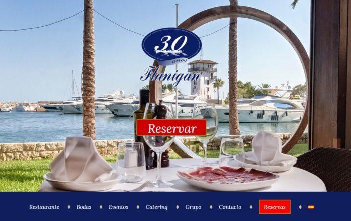 web restaurante flanigan