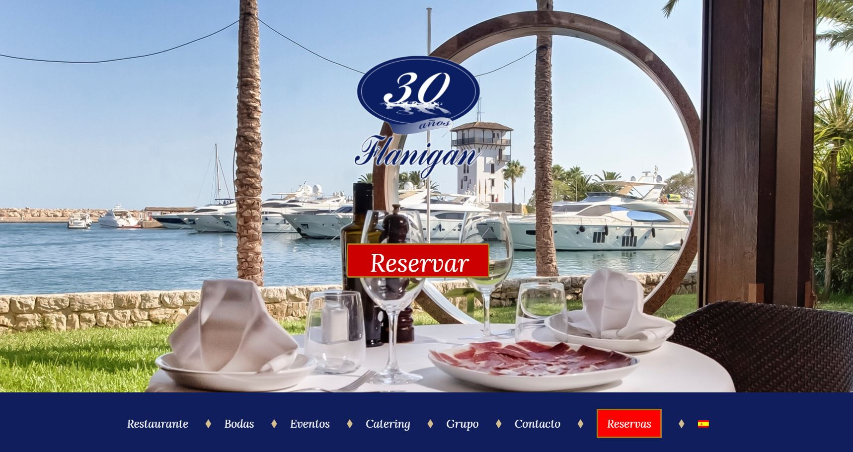 web restaurante flanigan
